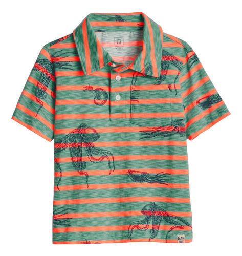 camiseta playera polo bebe niño jersey rayada gap original