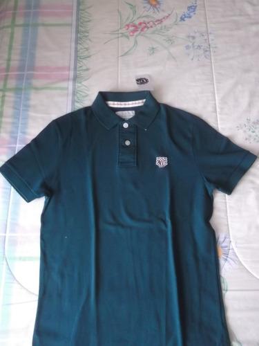 camiseta playera tipo polo chica c and a nueva c&a verde
