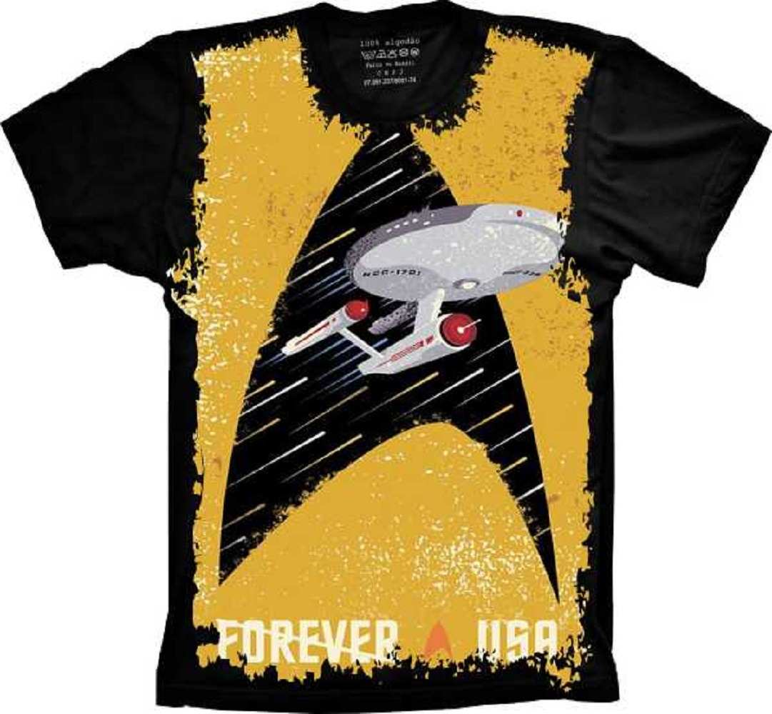 a7844790d6 Camiseta Plus Size Filme- Star Trek - Forever A Usa - R  79
