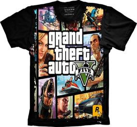 aab03c9b4 Camiseta De Gta 5 - Camisetas e Blusas no Mercado Livre Brasil