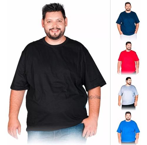 camiseta plus size masculina xg g1 g2 g3 extra grande blusa