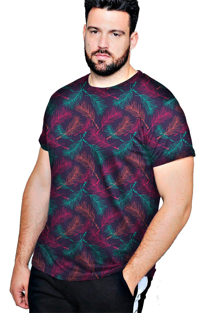 0da60abde00c0 Camiseta Plus Swag Florido Santa Barbara - Moda Plus Size - R  64