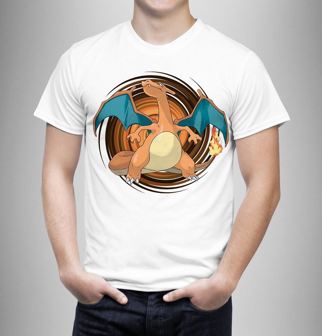 0f04c00fdc camiseta pokemon charizard. Carregando zoom.