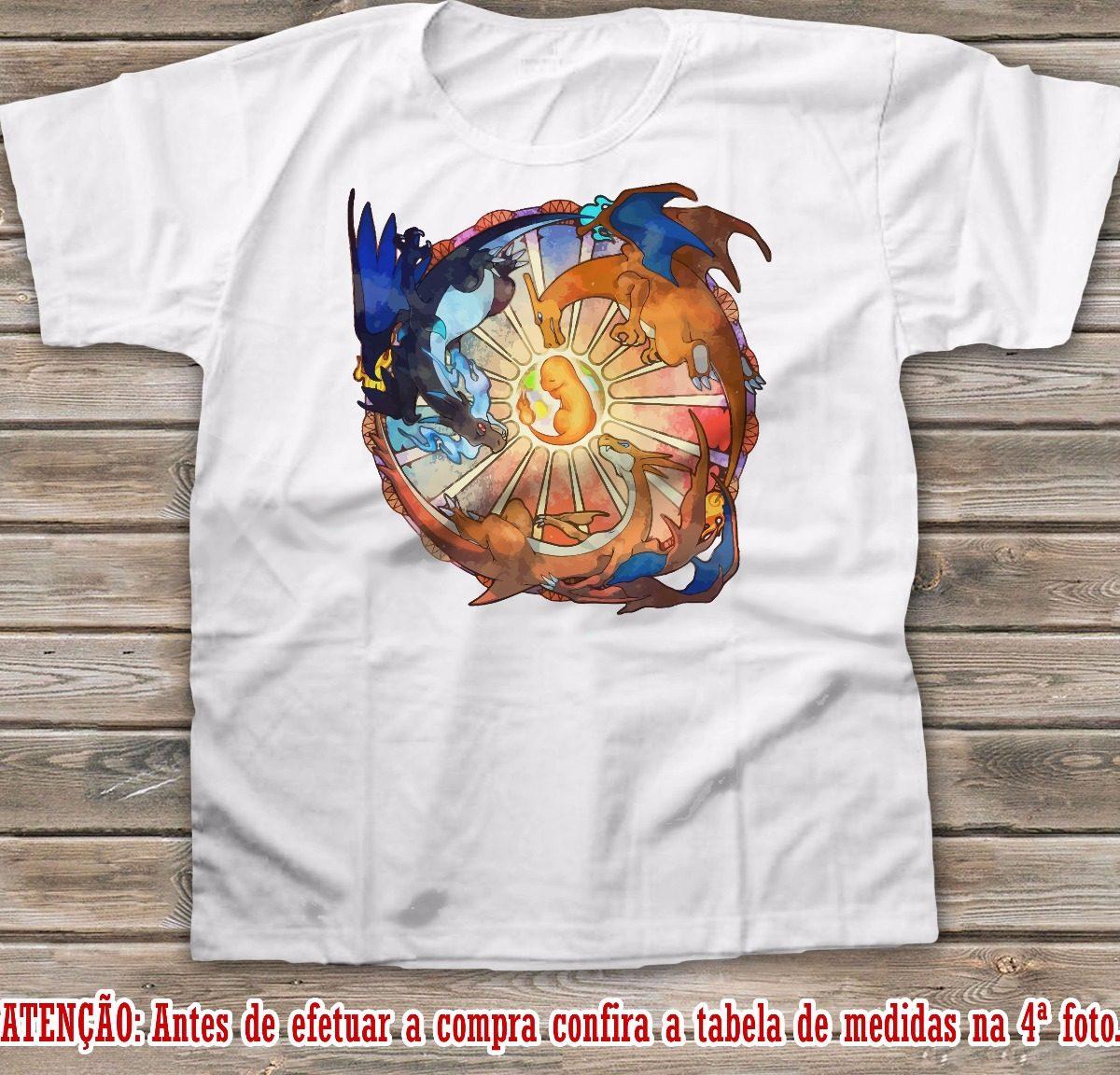 86d841df2c camiseta pokemon charizard camisa anime ash pikachu. Carregando zoom.