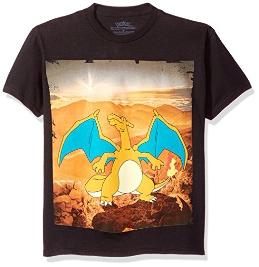 fdffd81849 Camiseta Pokemon Charizard De Color Negro Talla L -   619.99 en ...