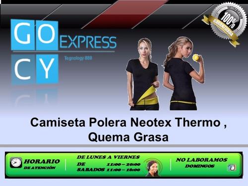 camiseta polera neotex thermo quema grasa nueva gocyexpress
