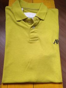 786e4f1906 Camiseta Polo Aeropostale Amarela Tam M  266 Camisa Regata