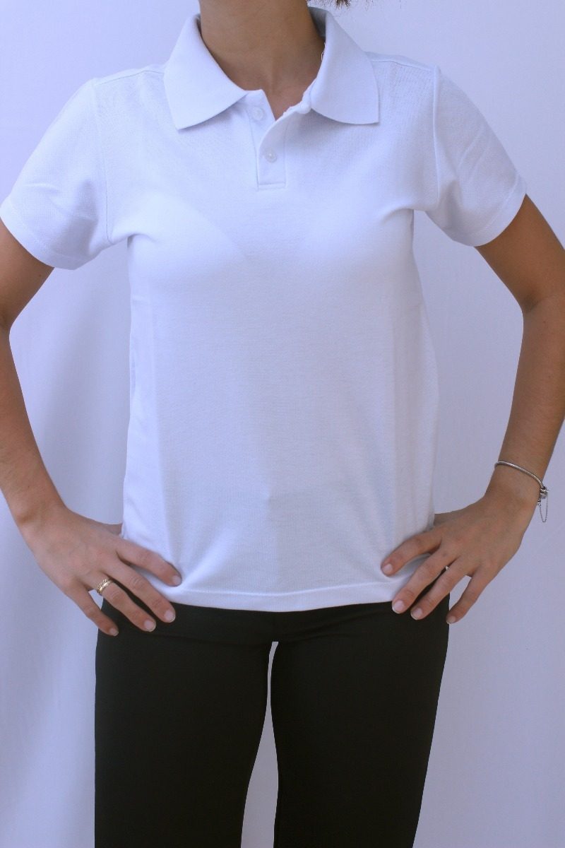 b29218a21dfb0 camiseta polo básica feminina branca. Carregando zoom.