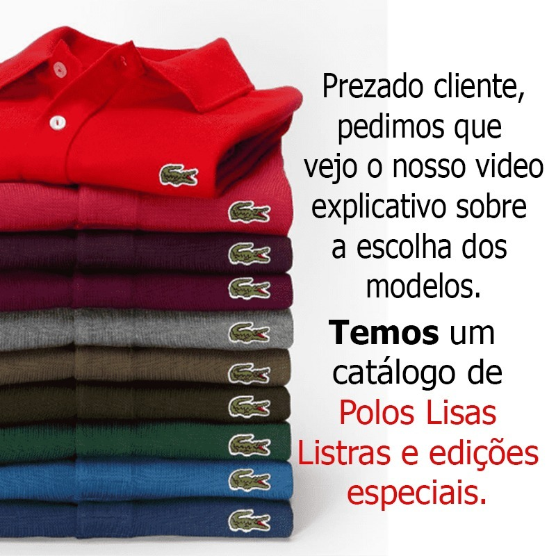 0fb8941c30593 camiseta polo basica lacoste original cotton pima peruana. Carregando zoom.