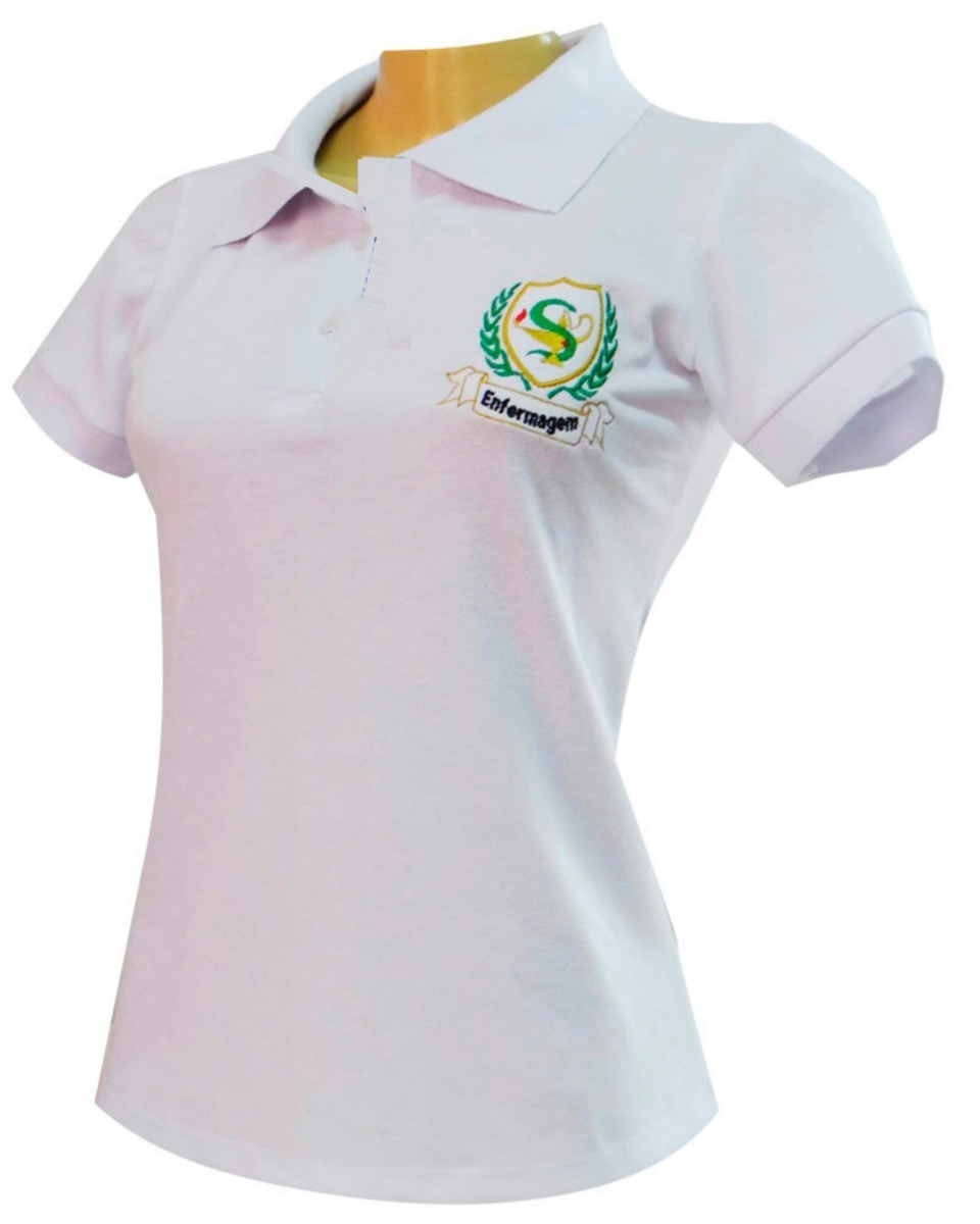 e46048a5db9e5 camiseta polo bordado enfermagem e simbolos de profissão. Carregando zoom.