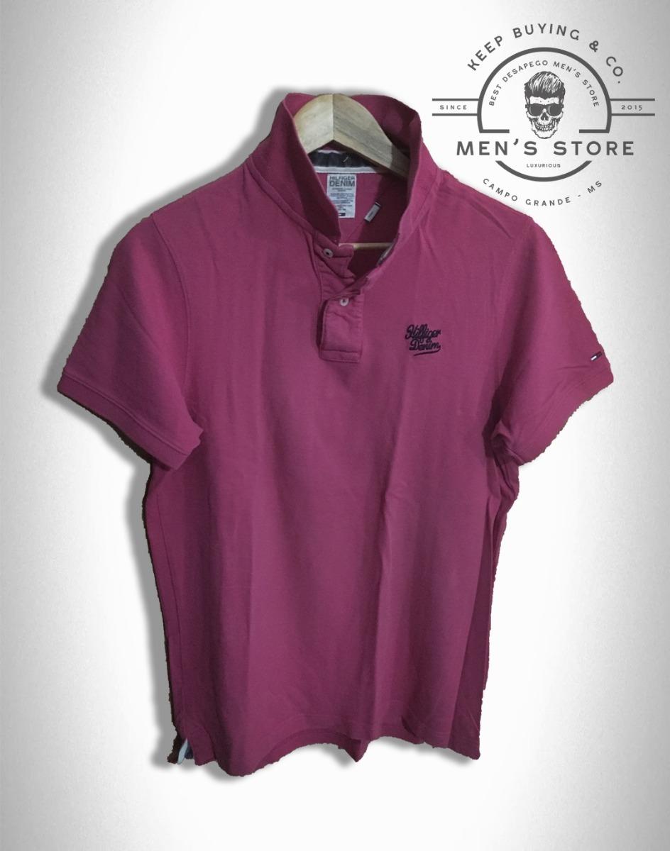8bf7b3c2a7 camiseta polo camisa masculino rosa tommy hilfiger. Carregando zoom.