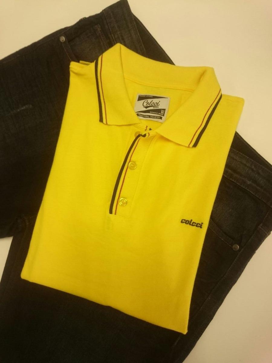 8b26c40d1 Camiseta Polo Colcci Masculina - R$ 69,90 em Mercado Livre