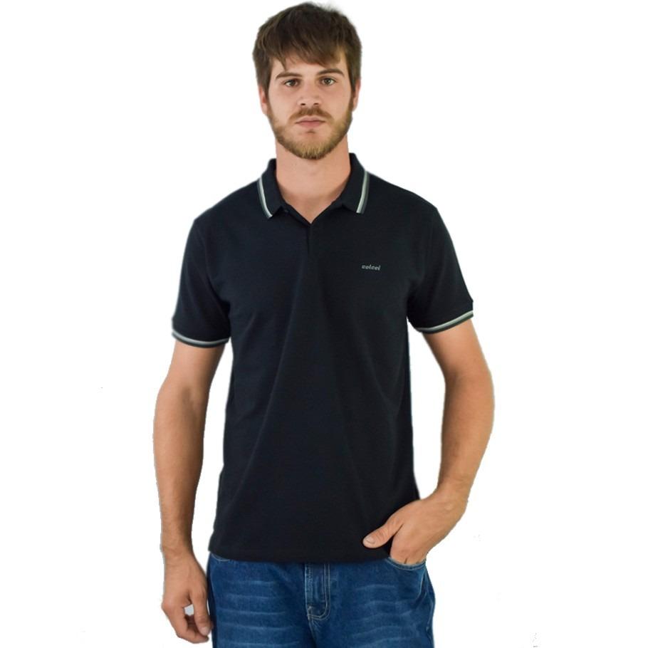 b51c786f6 Camiseta Polo Colcci Masculina Preta 0050 M - R$ 126,00 em Mercado Livre