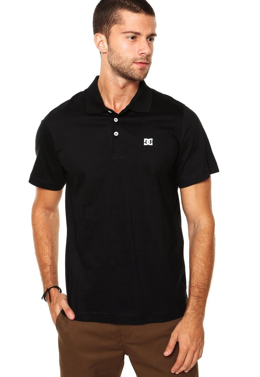 adccae61e352a Camiseta Polo Dc Shoes Star Original Preta - R$ 119,90 em Mercado Livre