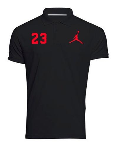 camiseta polo estampada jordan 23