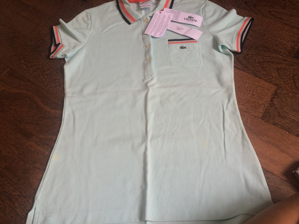 e918d197b14ae camiseta polo feminina lacoste original com etiquetas. Carregando zoom.