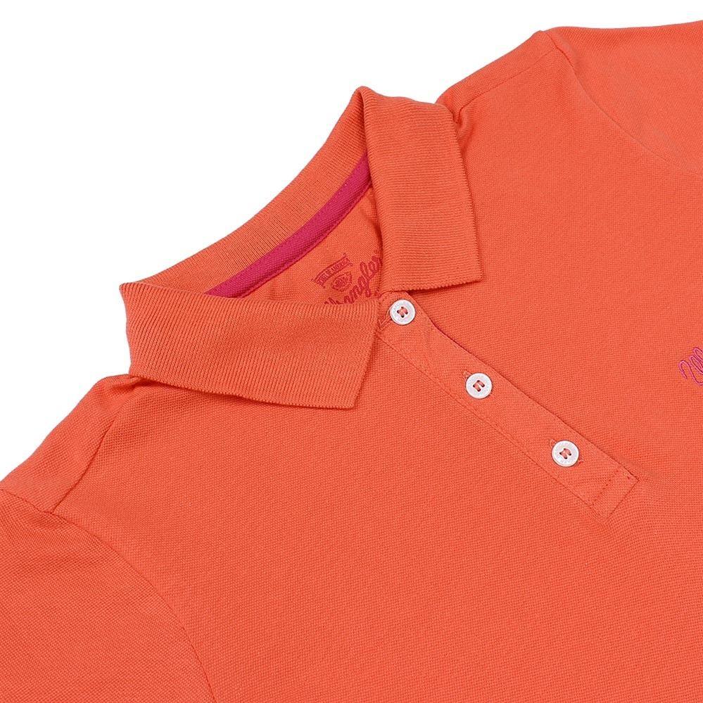 16ecf1f9c9 camiseta polo feminina laranja wrangler 22055. Carregando zoom.