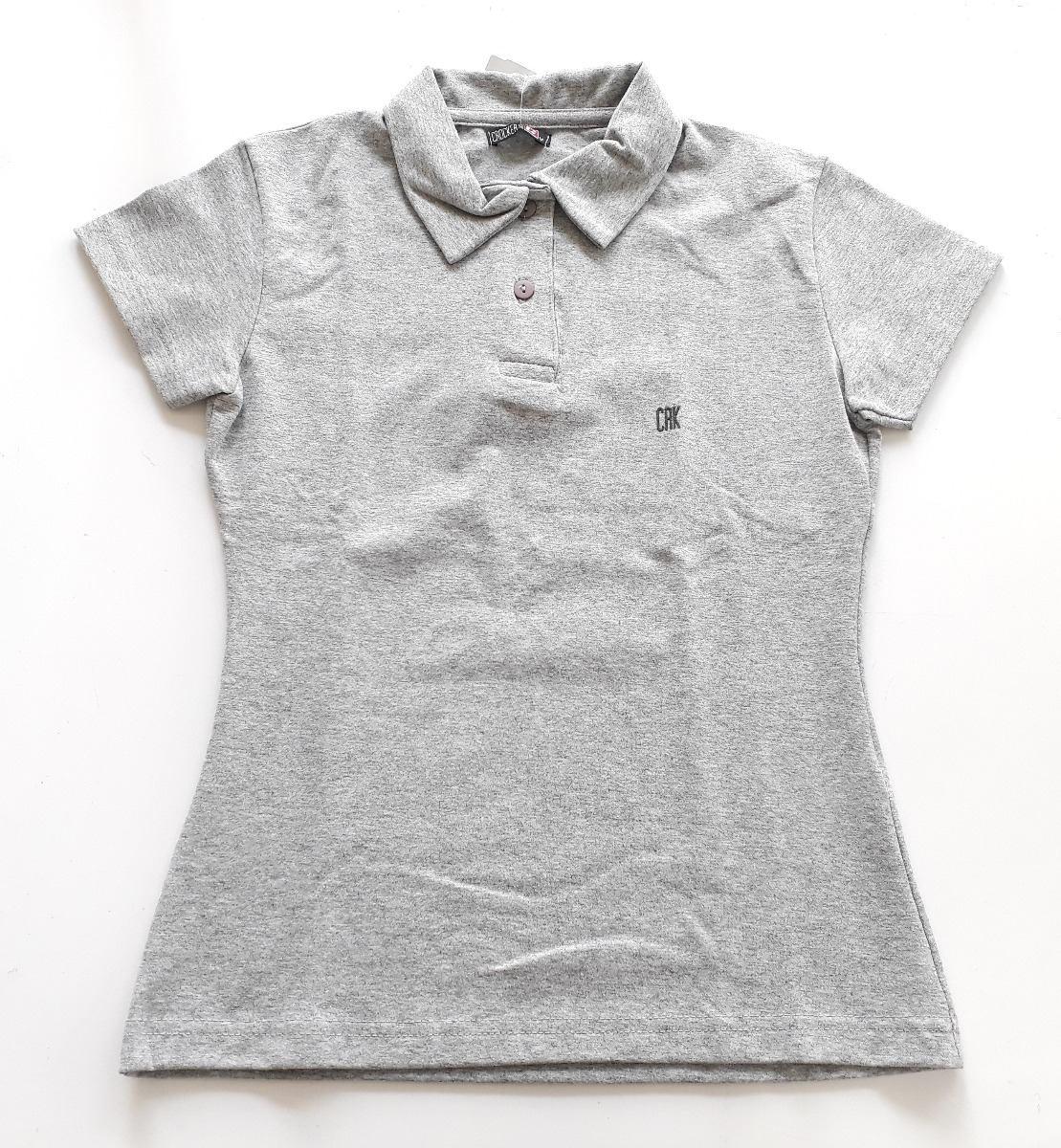 9d935351b6 camiseta pólo feminino - cinza crocker. Carregando zoom.