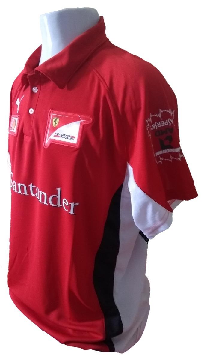 a13369e6a9 camiseta polo ferrari santander vermelha oficial importada. Carregando zoom.