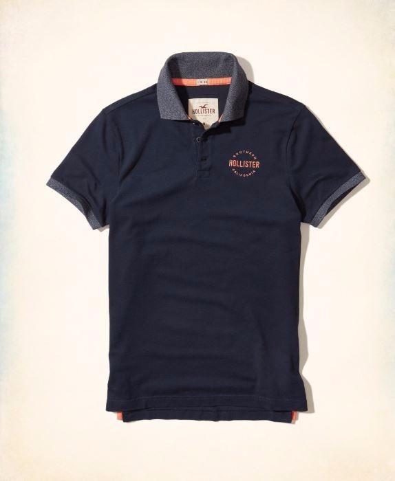 0eb41b21b4 Camiseta Polo Hollister Abercrombie Masc Original Tam G - R  110 ...