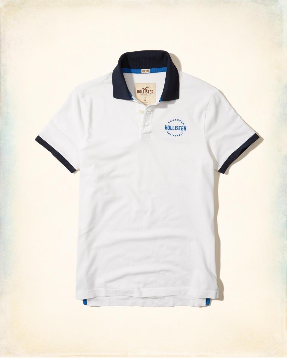 camiseta polo hollister abercrombie masc original tam g br a. Carregando  zoom. afb64f7c2e581