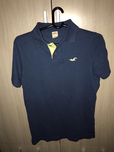 camiseta polo hollister original l ( g ) direto dos eua