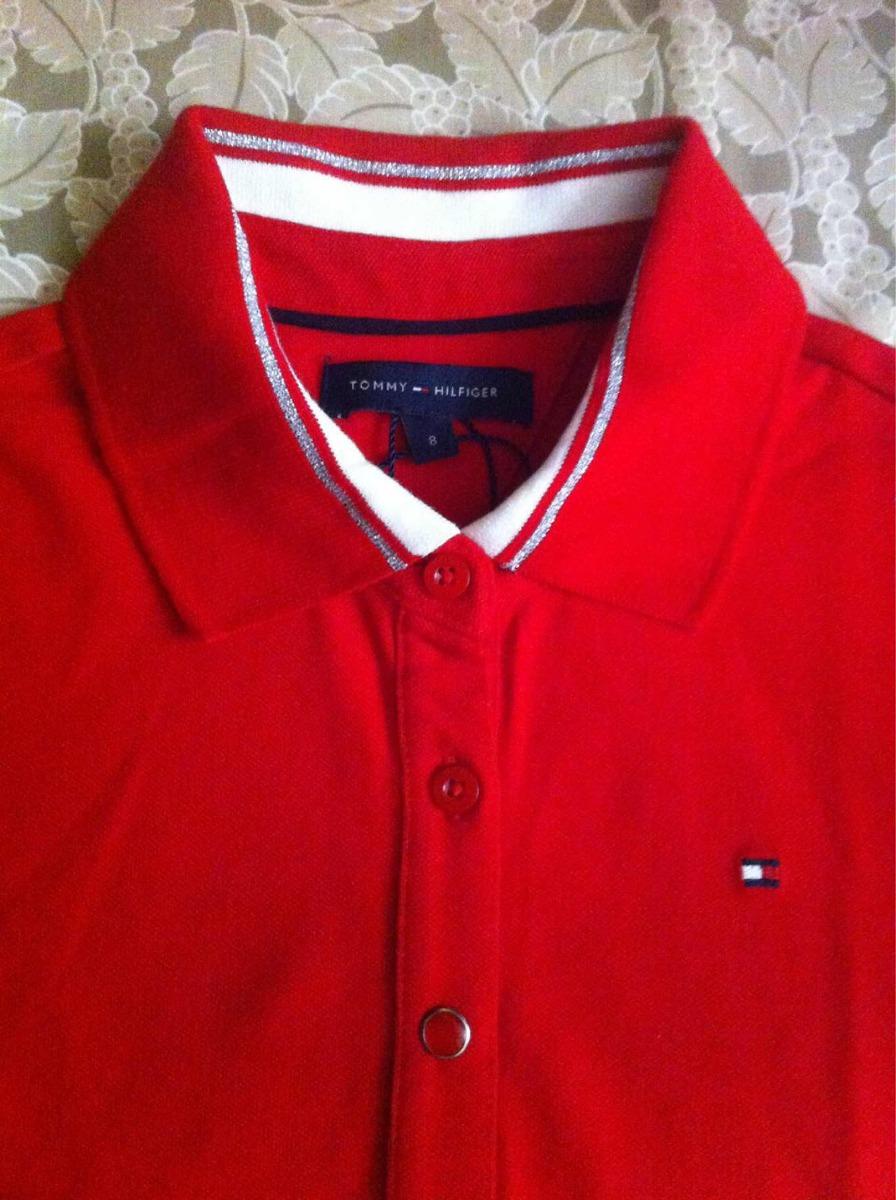 e32fd3641 camiseta polo infantil tommy hilfiger tam 8 nova vermelha. Carregando zoom.