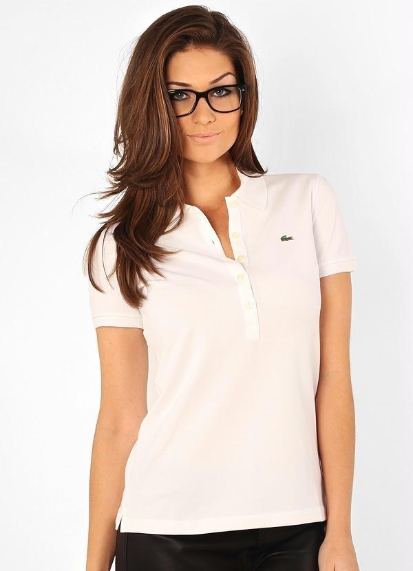 Camiseta Polo Lacoste Branca Feminina - Original - R  120,00 em ... e89444fad9