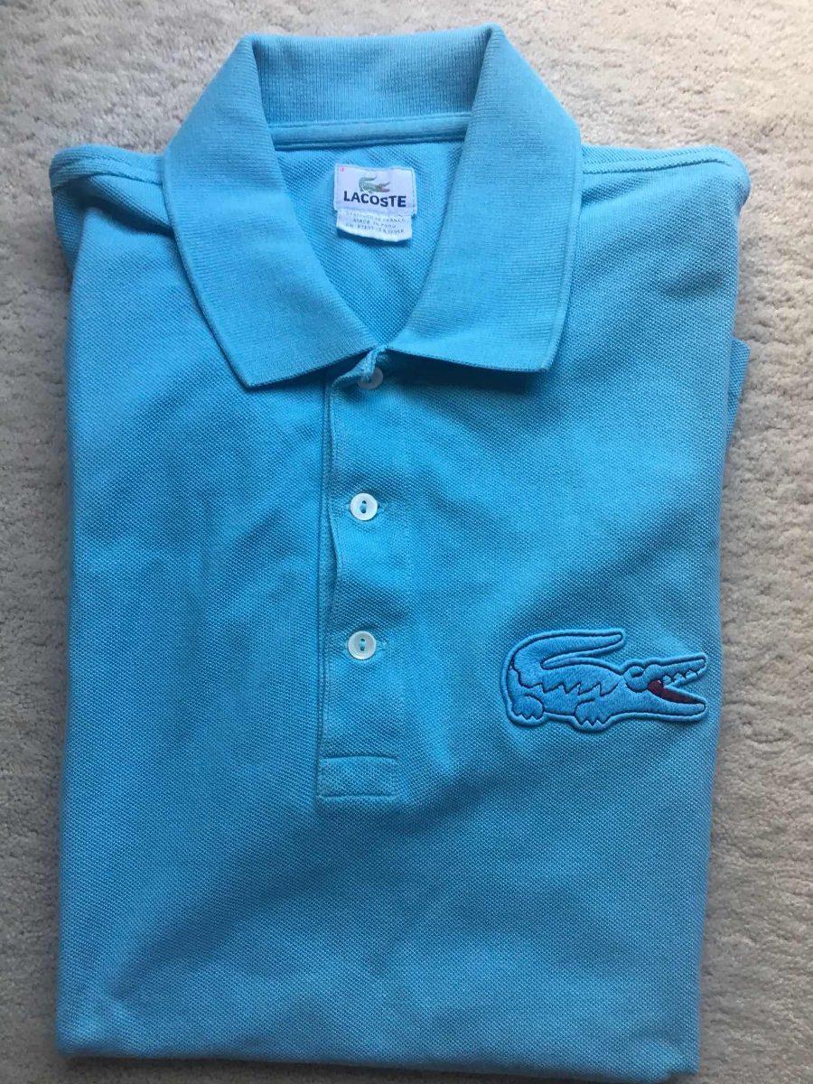 4a49c695f0c42 Camiseta Polo Lacoste Original Azul - R  89,00 em Mercado Livre
