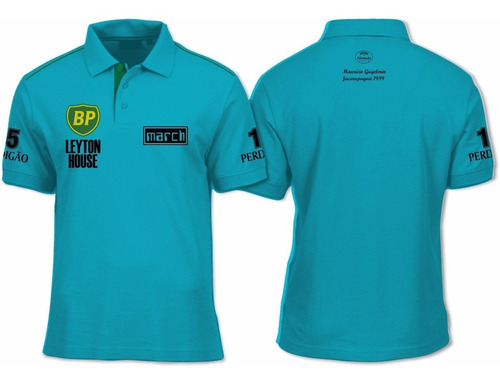camiseta polo - leyton house formula 1 f1 gugelmim e capelli