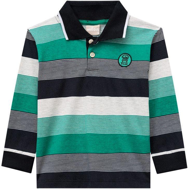 Camiseta Polo Manga Longa Infantil Menino Milon - R  69 45abfe4da8e