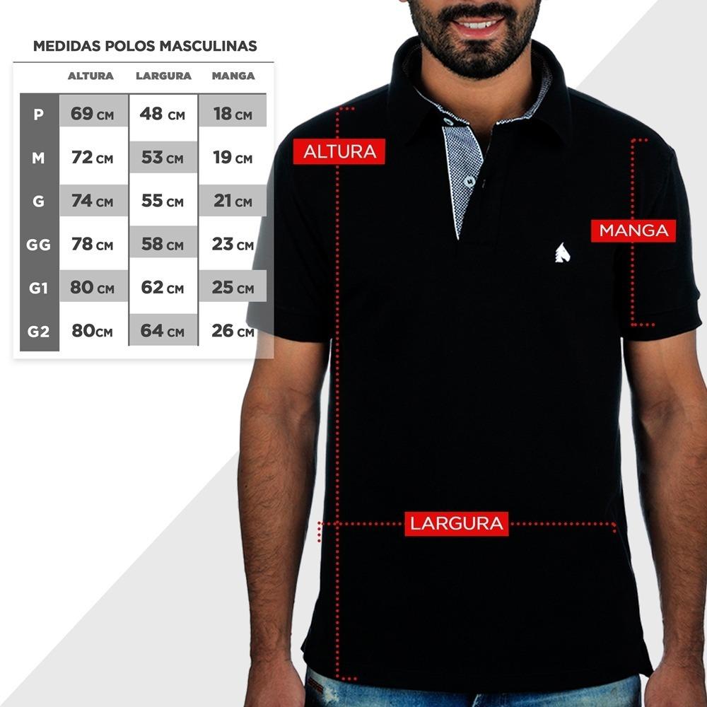 c51ce671059f6 Camiseta Pólo Masculina Bf   ms Azul Marinho Cp019 - R  134