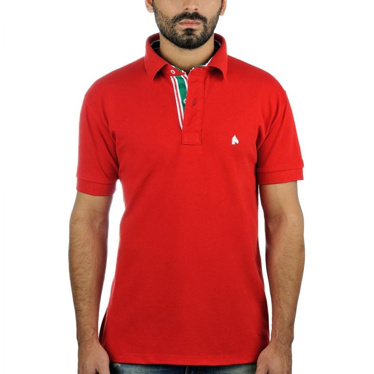 d4b6fc4c86e8e camiseta pólo masculina bf   ms vermelha cp018. Carregando zoom.