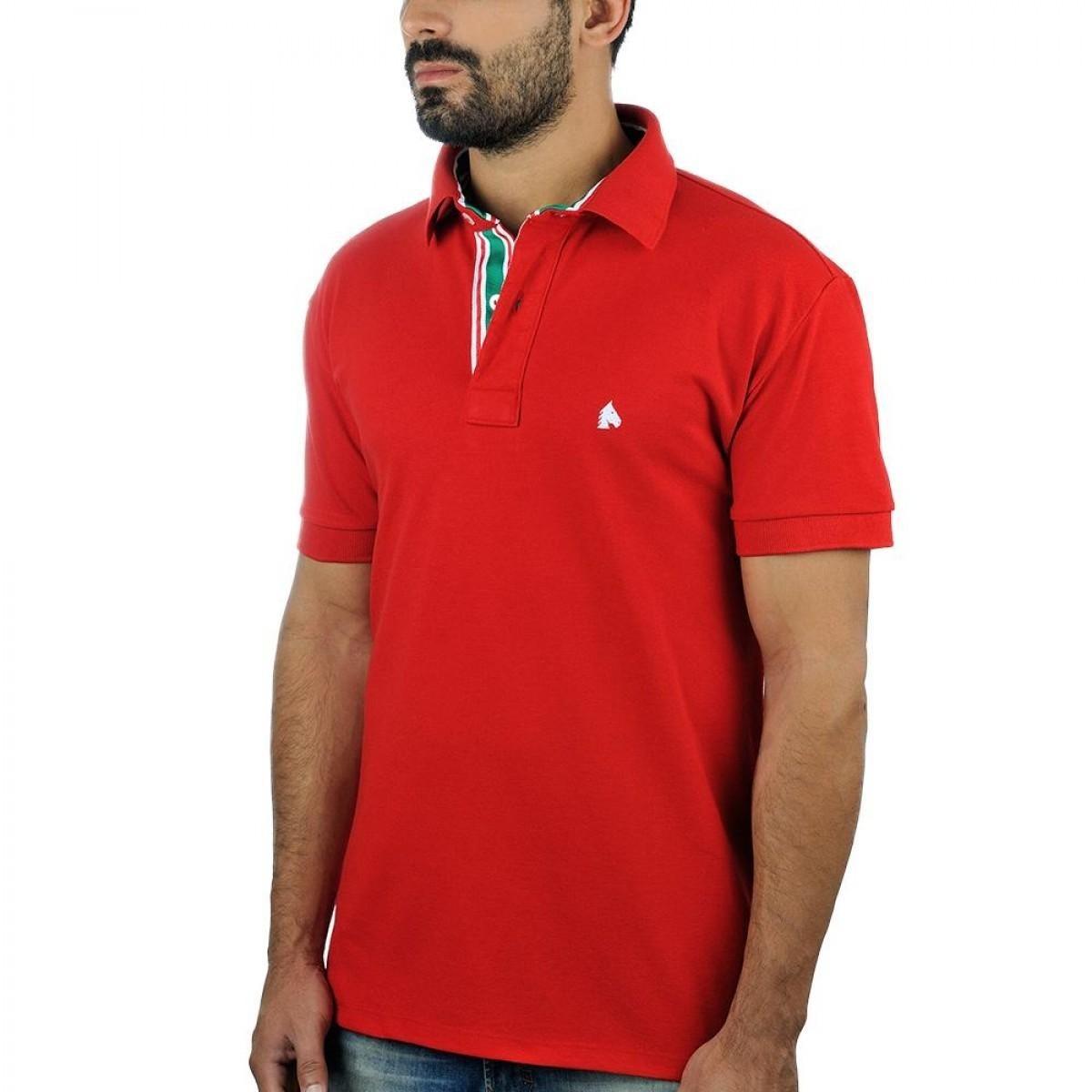 3bc4a27ad camiseta pólo masculina bf   ms vermelha cp018. Carregando zoom.