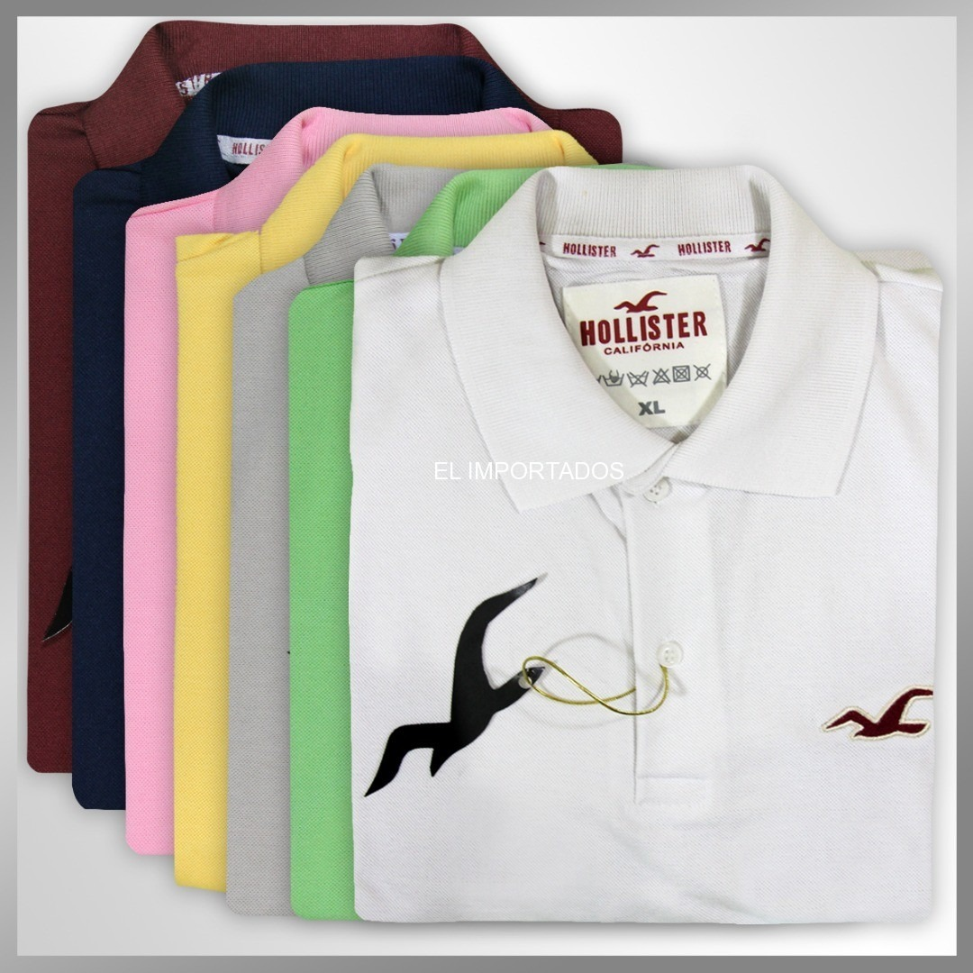 camiseta polo masculina hollister abercrombie lacoste ralph. Carregando  zoom. b9c0a7615a125