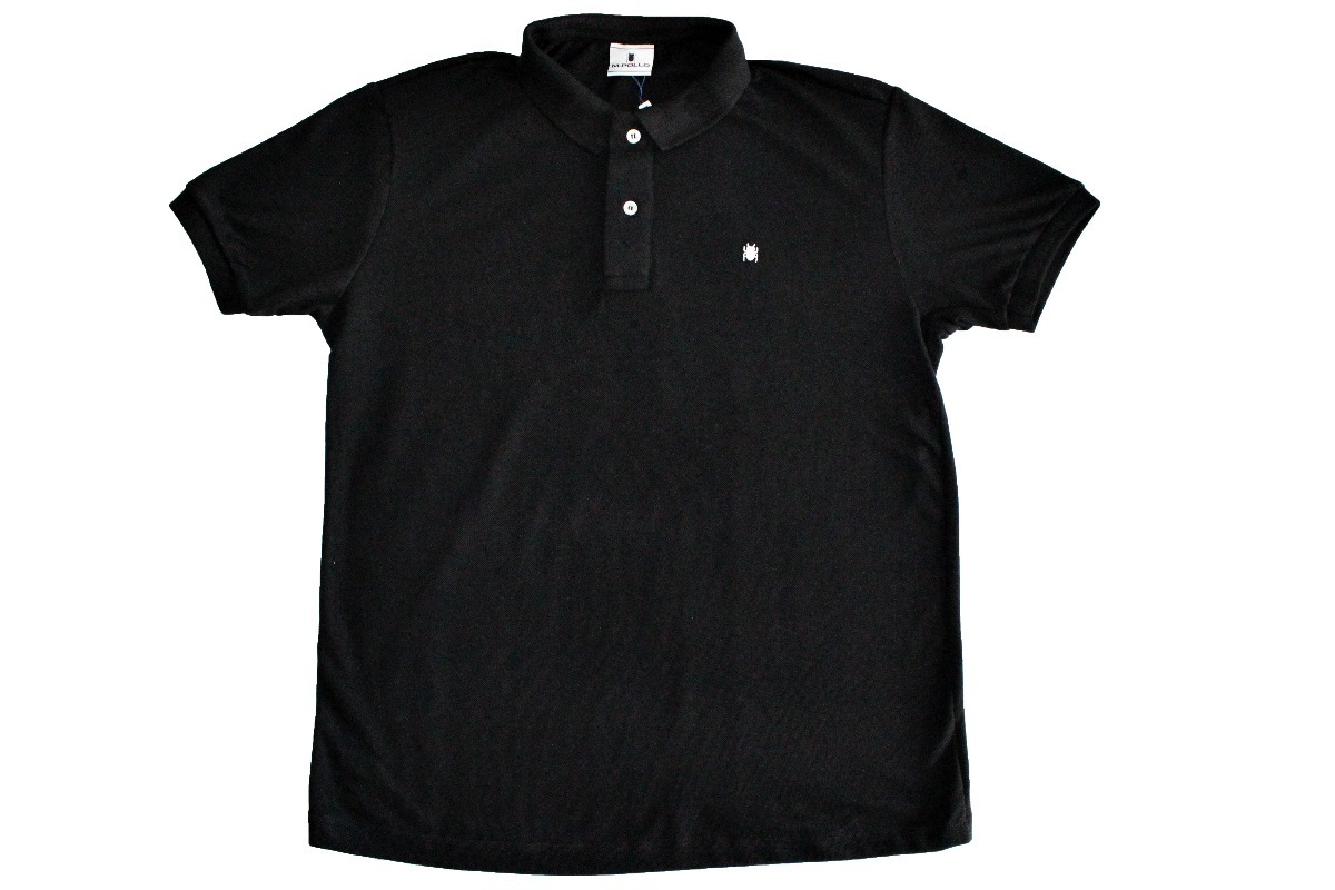 camiseta polo masculina preta t-shirt - mpollo. Carregando zoom. 92f975efc3418