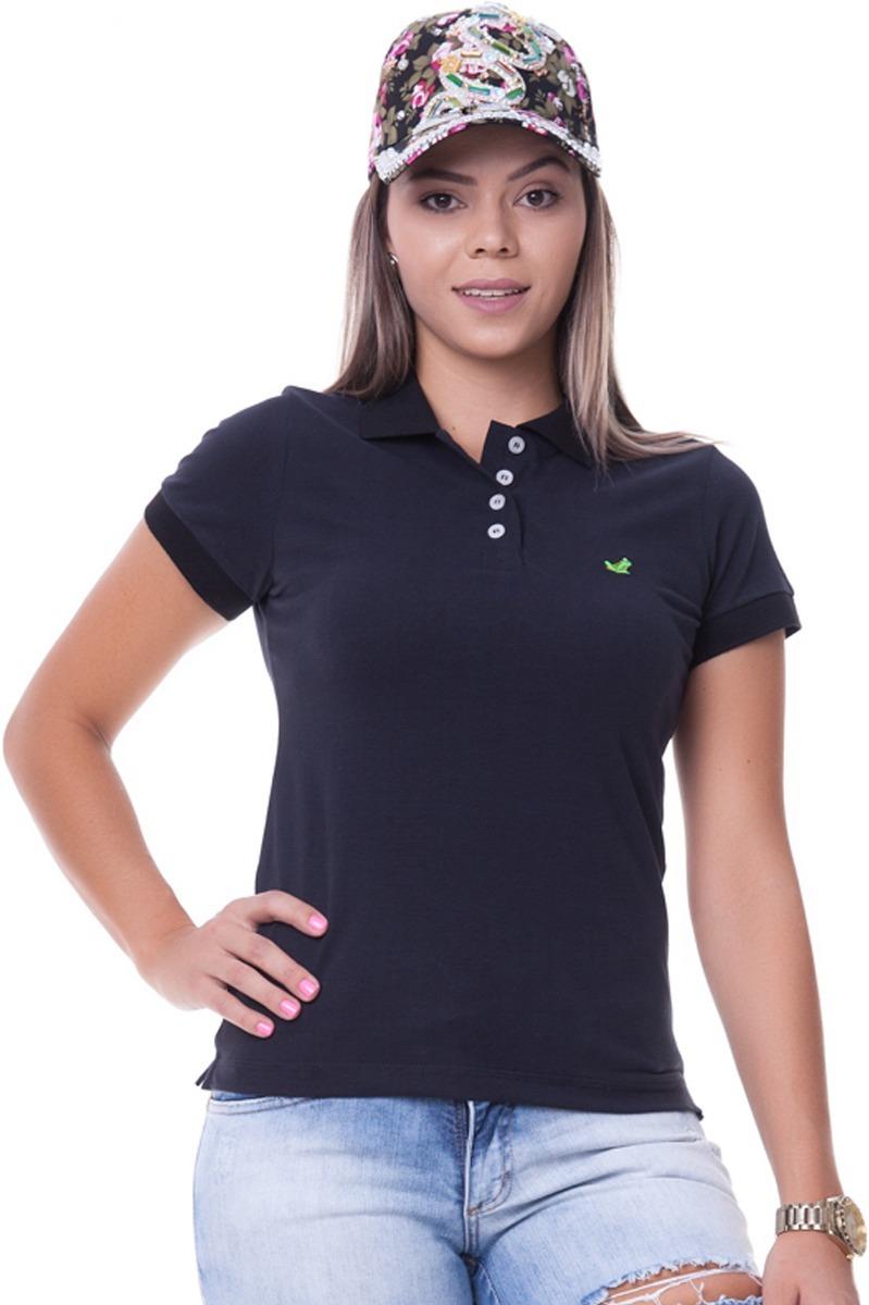 e7bfb33b68 camiseta polo mulher aveludada cor preta sapocaco. Carregando zoom.