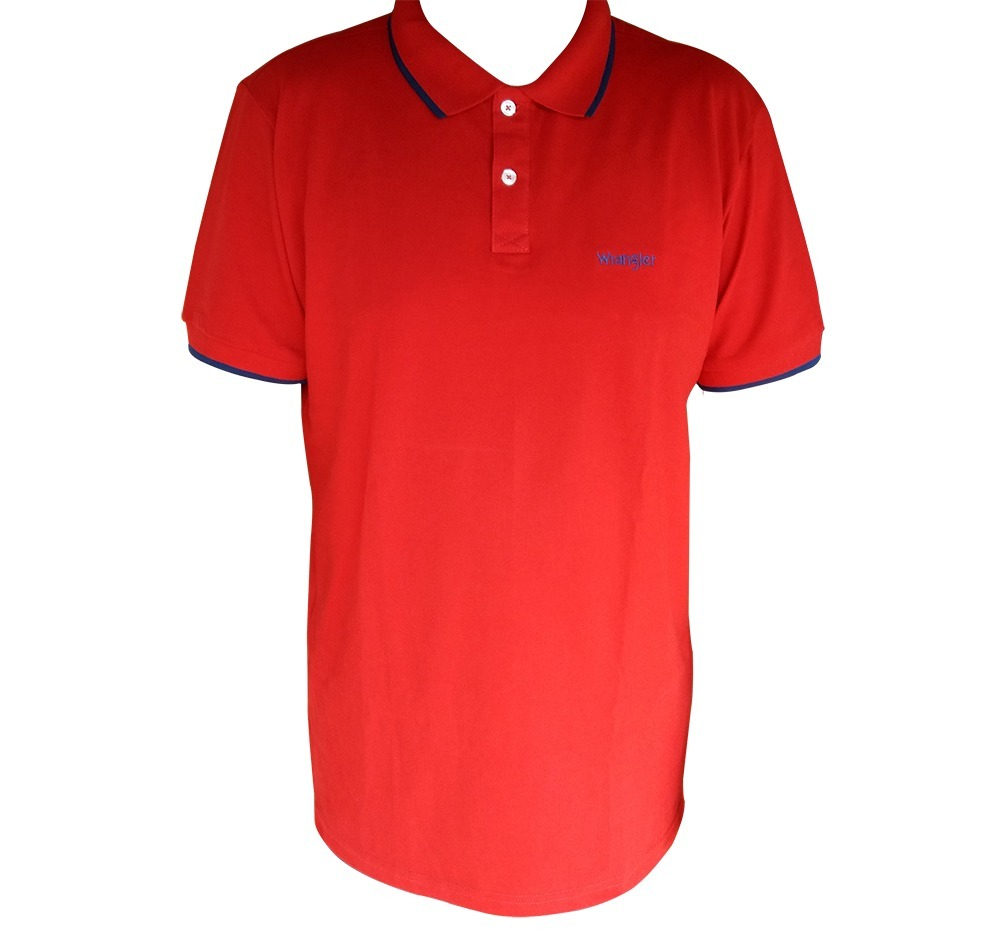 6e206df4ed camiseta polo piquet masculina wrangler wm9101 vermelha. Carregando zoom.