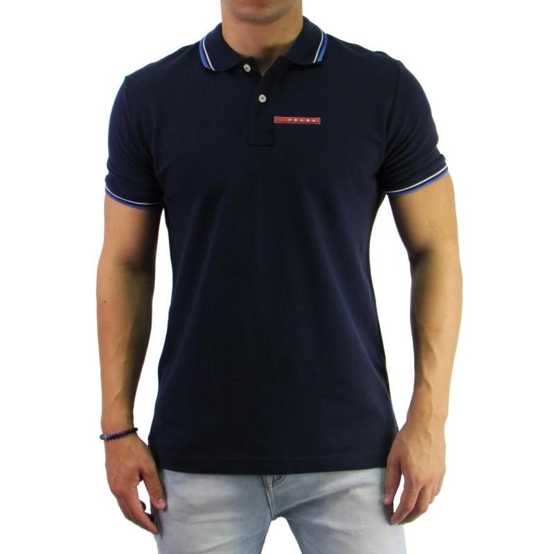 5657cad07 Camiseta Polo Prada Original Importada - Azul Marinho - R$ 249,90 em ...