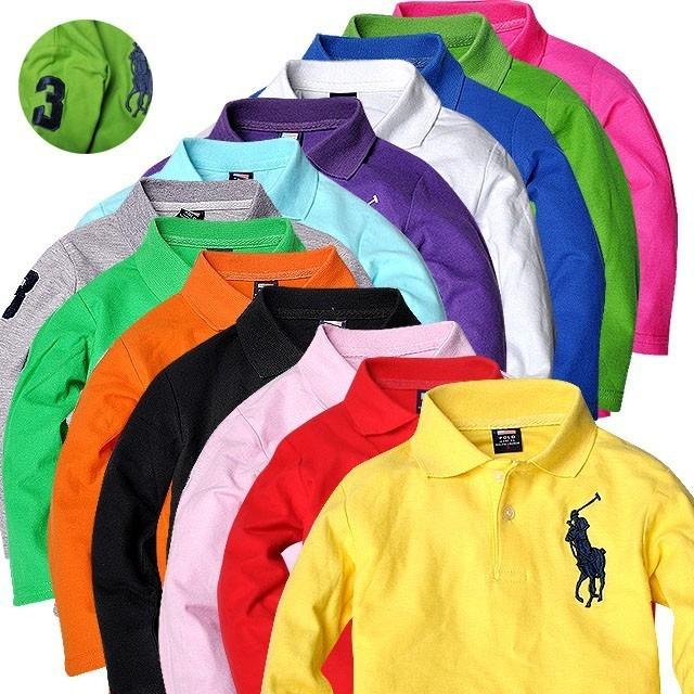 a24725a9578d7 Camiseta Polo Ralf Lauren Infantil Masculina Manga Comprida - R  90 ...