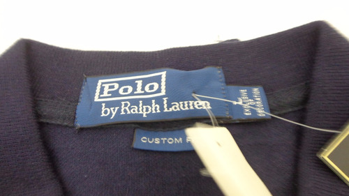 986a200bed Camiseta Polo Ralph Lauren Azul Big Poney Vermelho Tam G - R  119