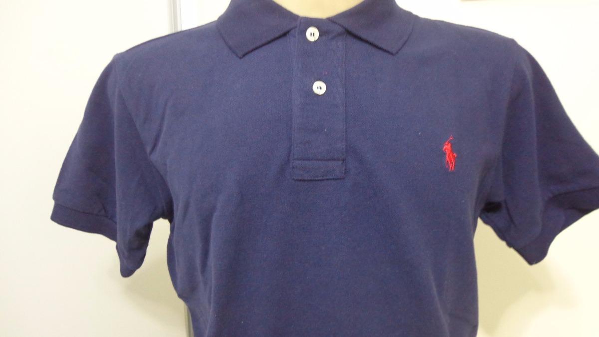 419e812852 camiseta polo ralph lauren azul big poney vermelho tam g. Carregando zoom.