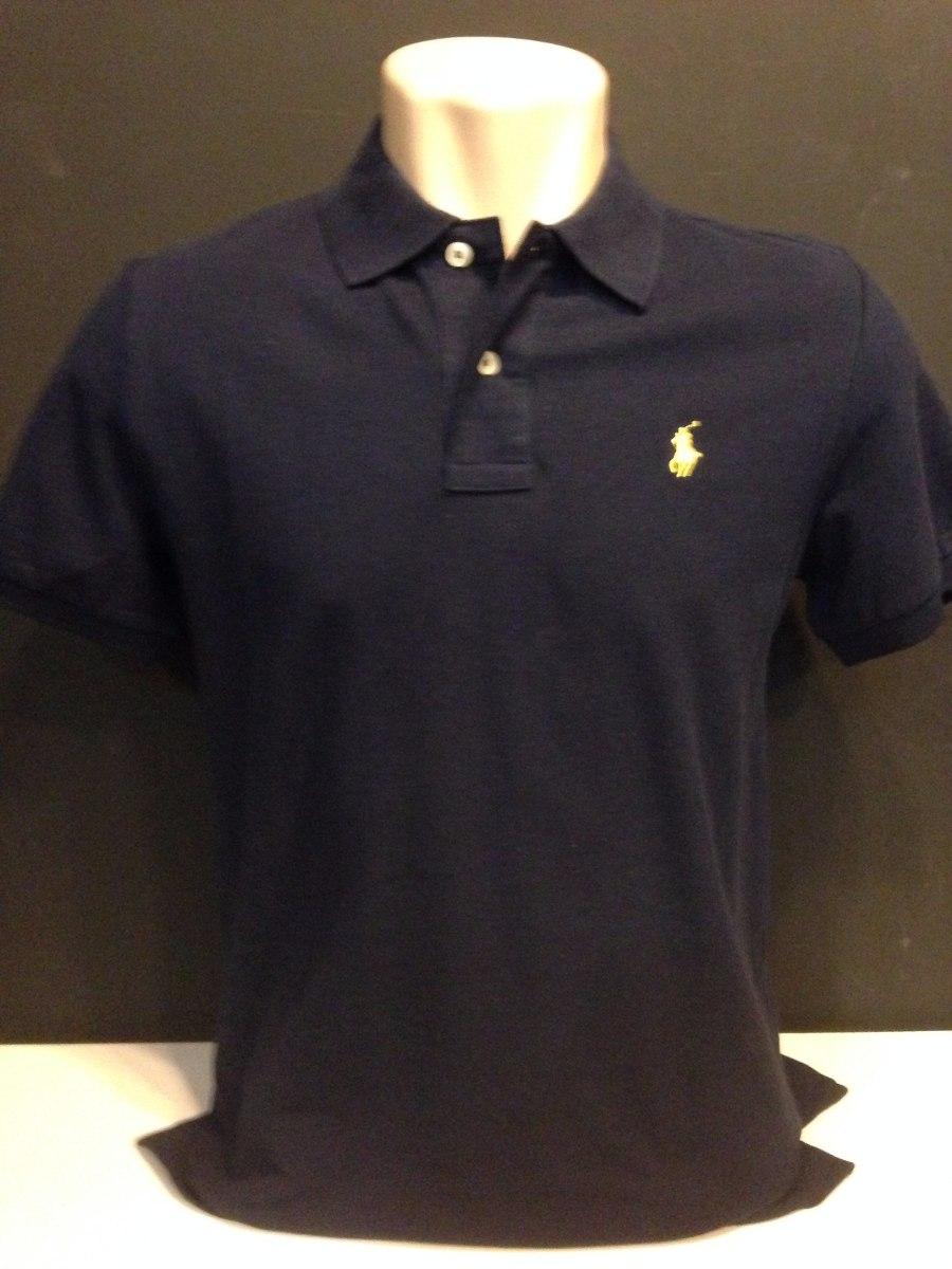 camiseta polo ralph lauren azul marinho cavalo amarelo tam p. Carregando  zoom. 9d3e4b0bf88