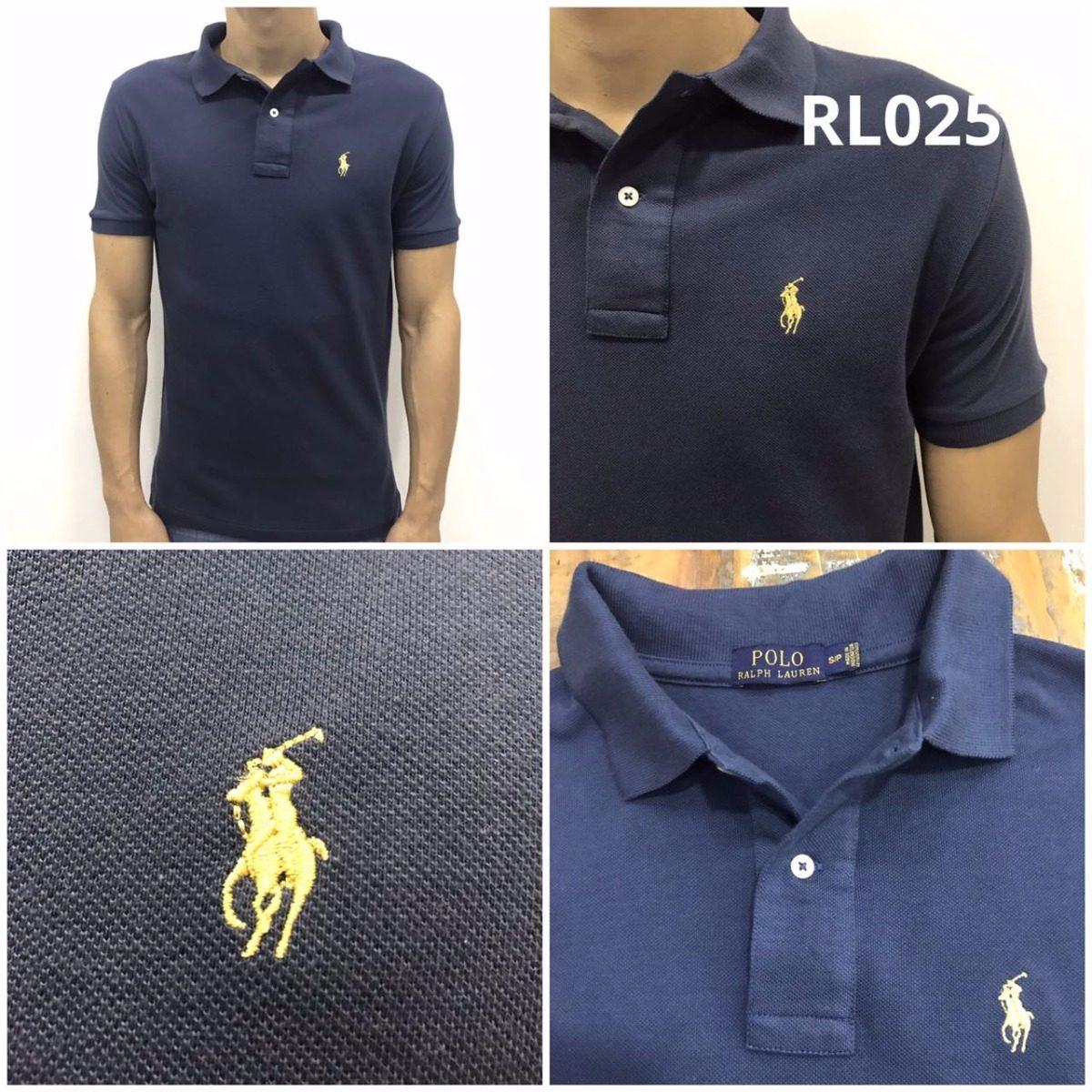 ... d6de3cc18c2 camiseta polo ralph lauren azul marinho original top frete.  Carregando zoom. f777202f25c3c