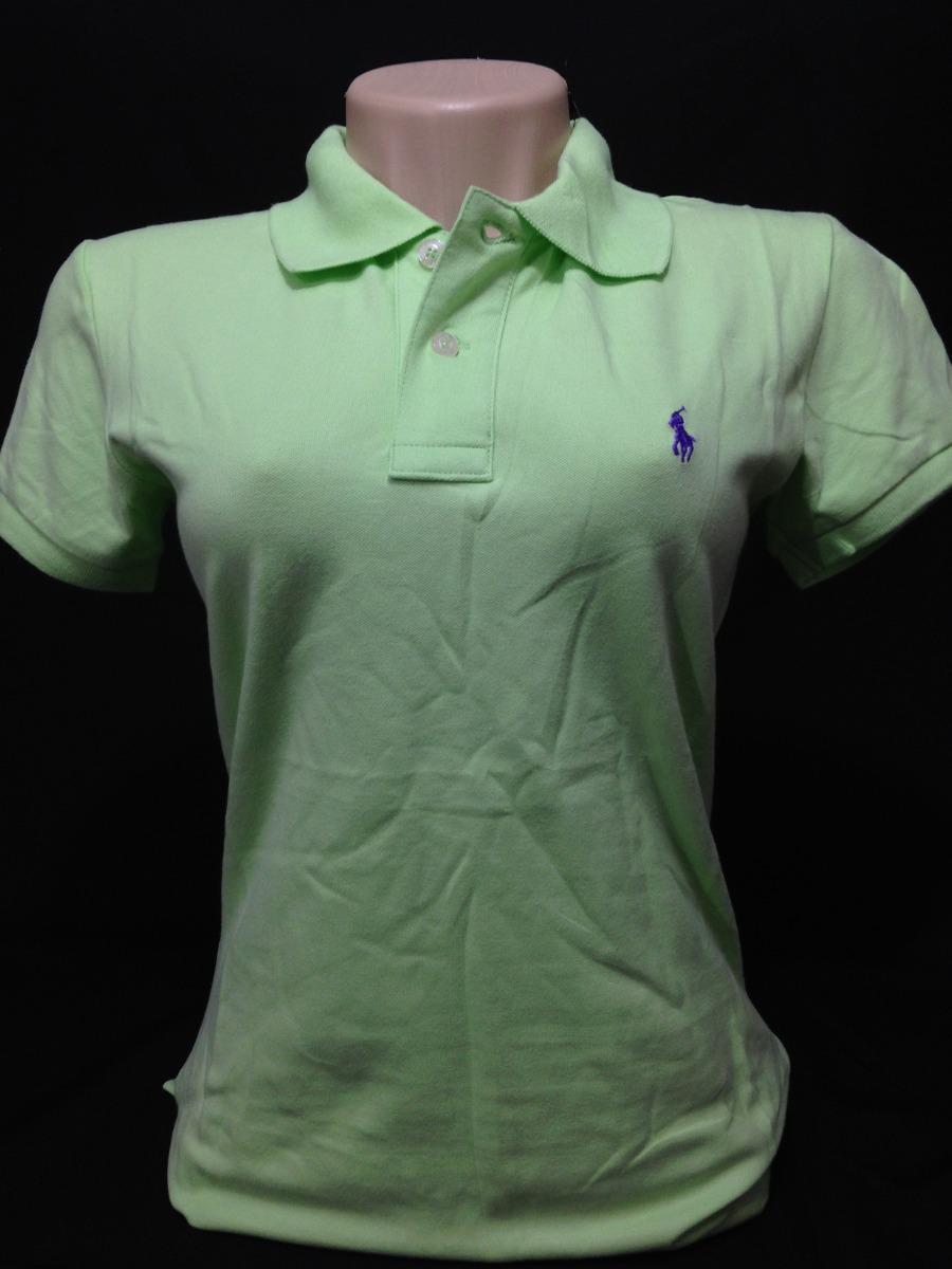 camiseta polo ralph lauren fem. verde claro tam m. Carregando zoom. 5994f3dd383
