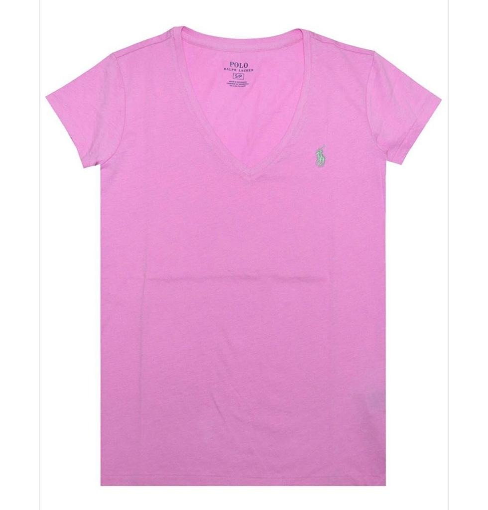 camiseta polo ralph lauren gola v - rosa. Carregando zoom. cabb35013d2