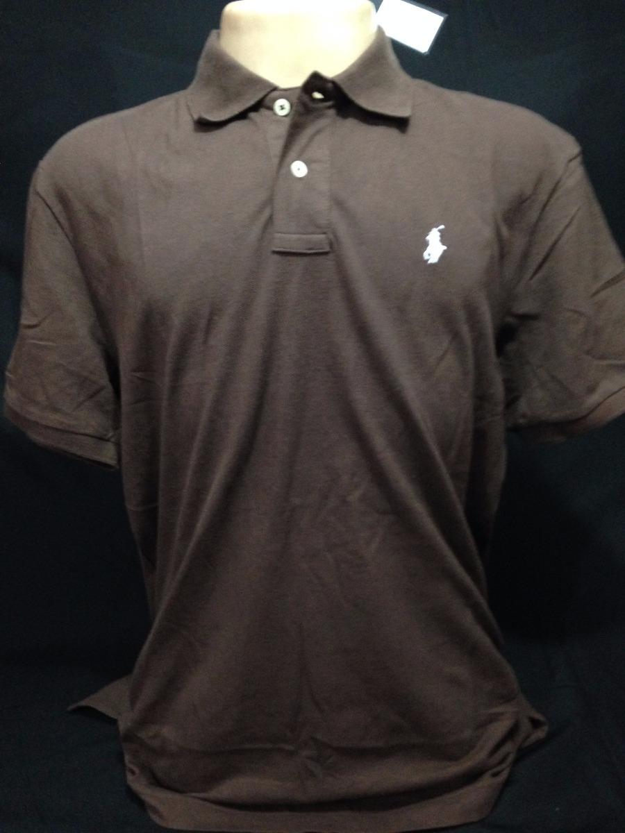 camiseta polo ralph lauren marrom com simbolo branco tam gg. Carregando  zoom. 23fae57f5790a
