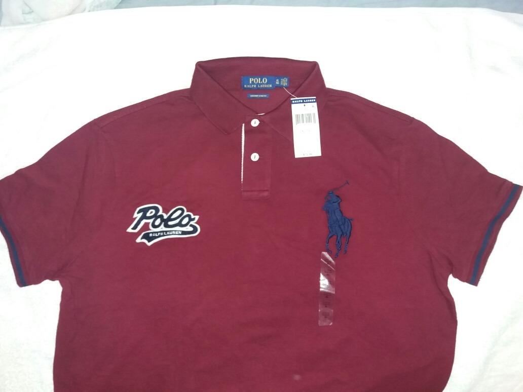 948bb7d63e710 camiseta polo ralph lauren talla ( l ) original color vino. Cargando zoom.