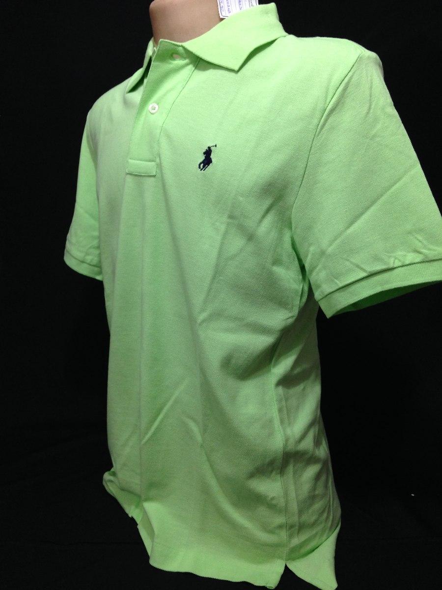camiseta polo ralph lauren verde claro cavalo azul tam m. Carregando zoom. f0ea84ebed6