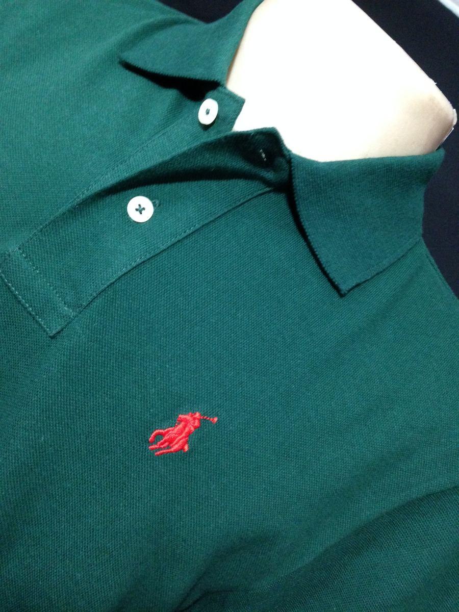 camiseta polo ralph lauren verde com simbolo vermelho tam p. Carregando  zoom. b883cf8d9c25e